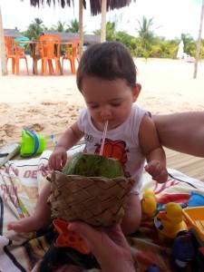 bar da Lu rio carapitangui o pequeno viajante minha primeira agua de coco