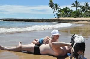 praia de tres coqueiros o pequeno viajante com papai e kika