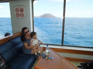 travessia de barco ferry entre lanzarotte e fuerteventura ilhas canarias