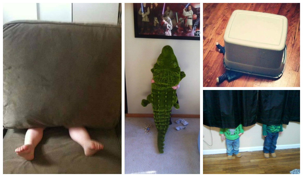 As Melhores Fotos de Esconde Esconde (ou Pique Esconde)