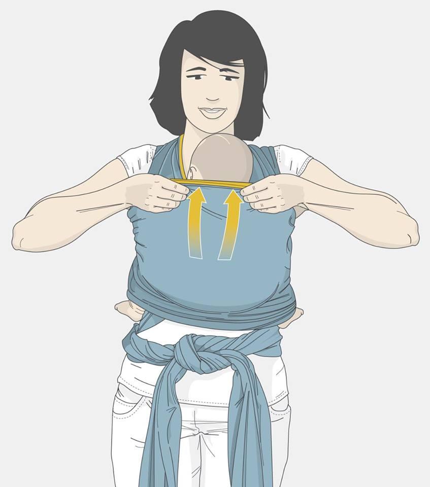 Wrap Sling: Como Vestir e Como Colocar o Bebê (Ilustrado)