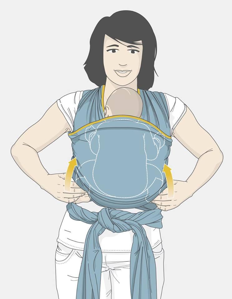 passo a passo de como colocar o bebe no wrap sling mamae tagarela (16)