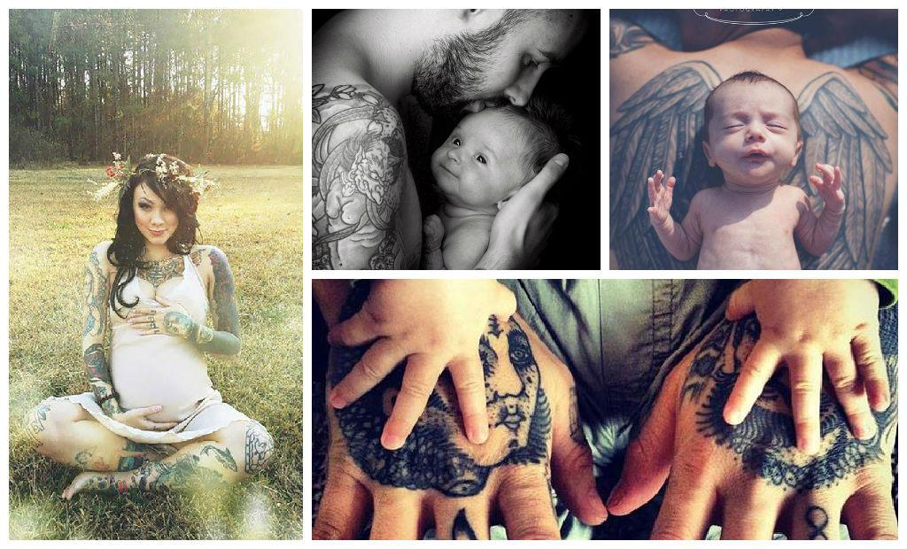 Ensaio Fotográfico com Pais e Mães Tatuados
