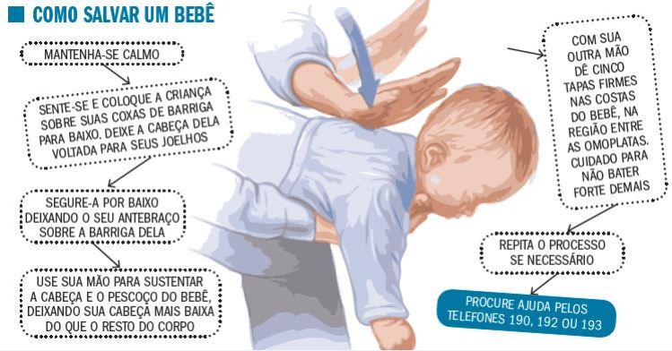 como salvar um bebe de engasgo