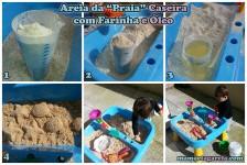 mamae tagarela fazendo areia da praia caseira com farinha e oleo
