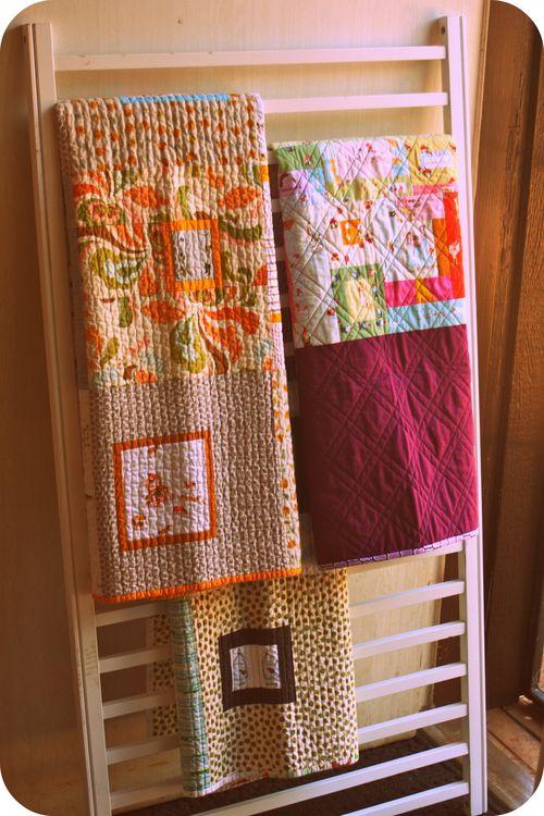 ideia 6 de como reaproveitar o berco porta toalha