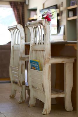 ideia 7 de como reaproveitar o berco cadeiras