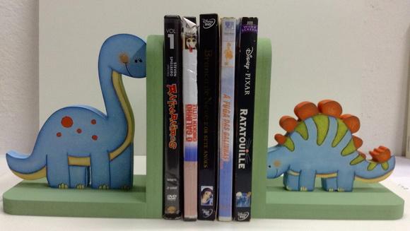 aparador de livros dinossauros porta livros