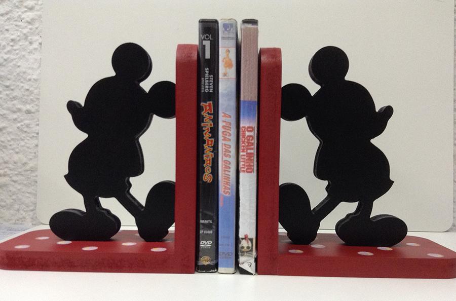 aparador de livros mickey mouse porta livros