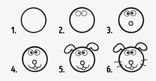 desenhos faceis de fazer - cachorro ou coelho