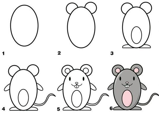 desenhos faceis de fazer - rato