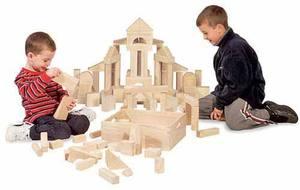 2 blocos brinquedos de madeira