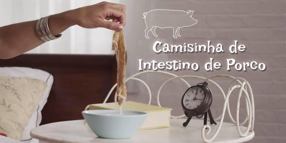 Camisinha de intestino de porco 13 Maneiras Mais Estranhas de Evitar Gravidez na Historia