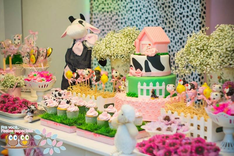 Festas Criativas-Fazendinha-Rosa