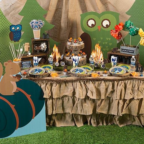 Tema-de-Festa-Infantil-Criativa-Acampamento