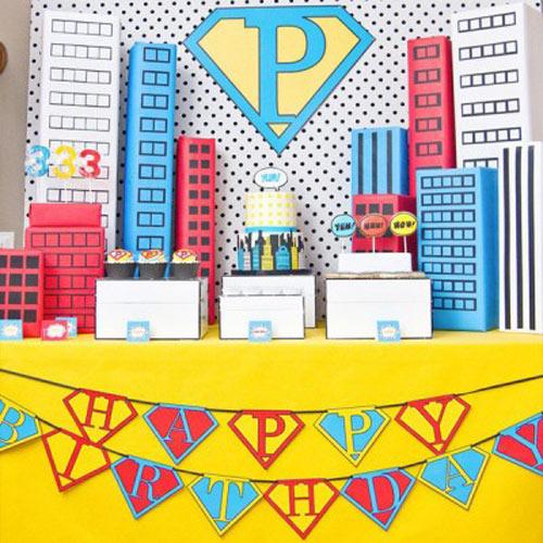 Tema-de-Festa-Infantil-Criativa-Super-heroi-vintage