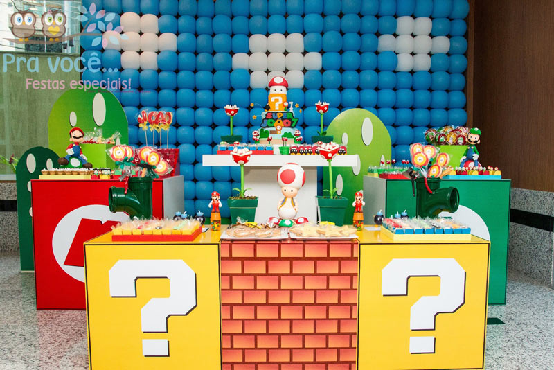 Tema-de-Festa-Infantil-Criativa-Video-game-super-mario-bros