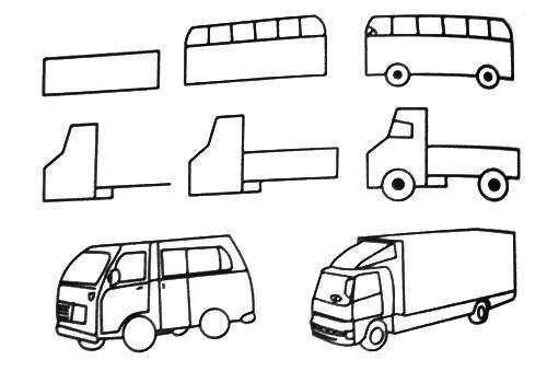 Ônibus e caminhão