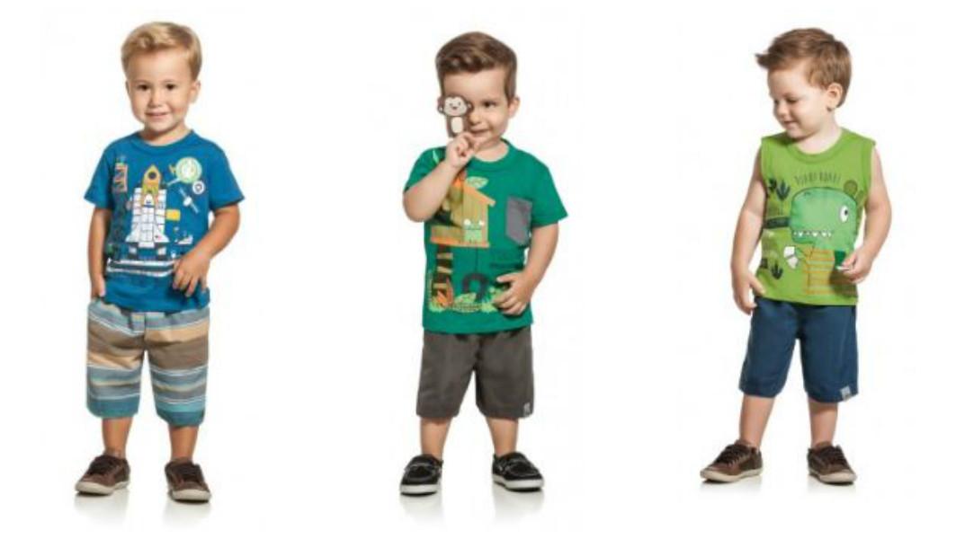 roupa conjunto para meninos bermuda e camisas