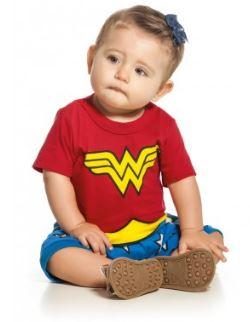 roupa de mulher maravilha para bebe