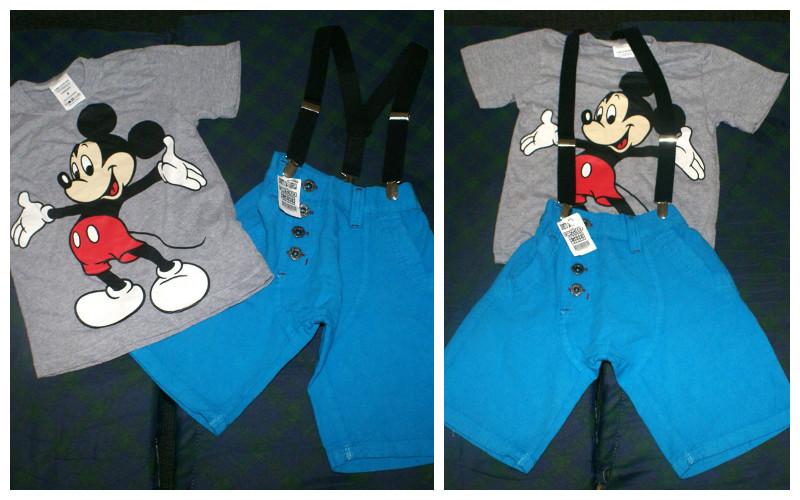 camisa e suspensorio do mickey