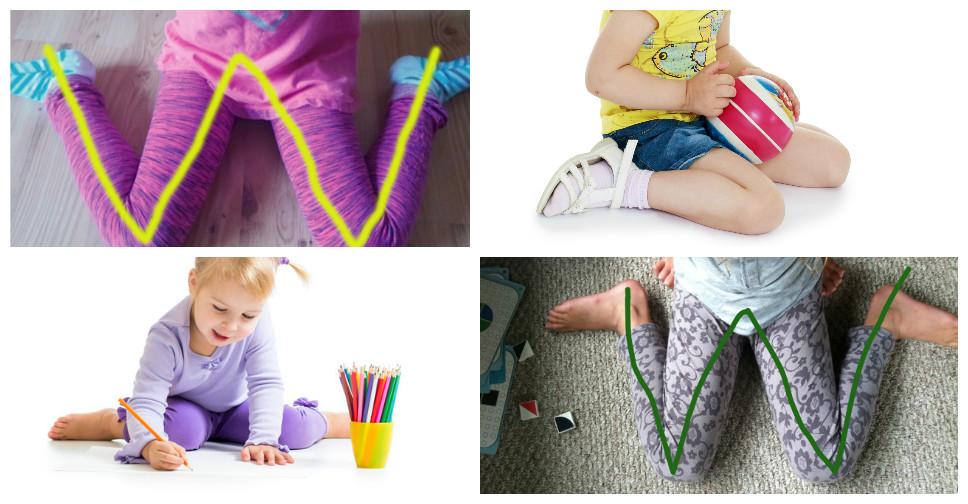 Crianças sentadas na posição W e seus perigos