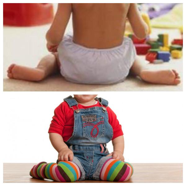 Mais crianças sentadas com as pernas em W