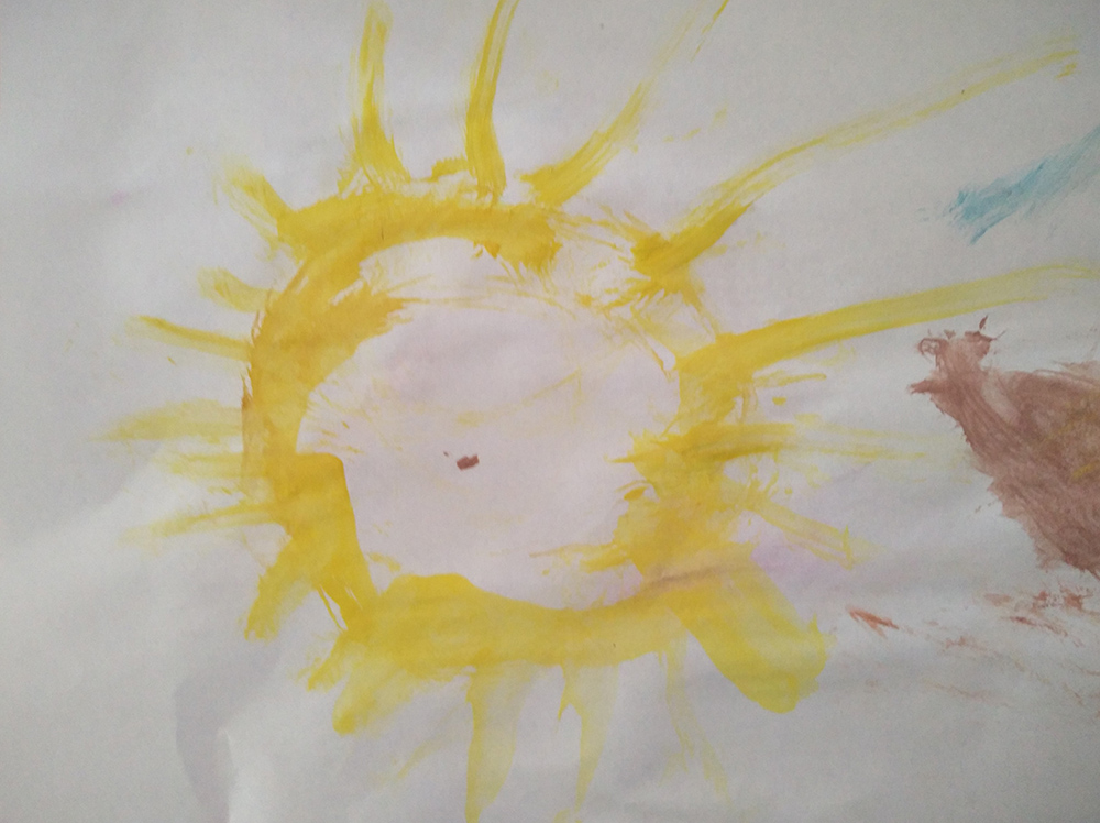 desenho do sol do eric