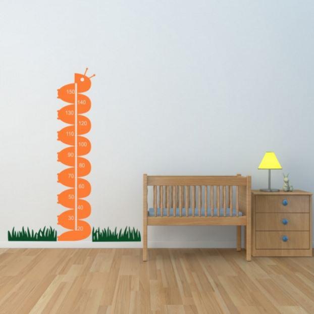 adesivo de parede regua lagarta