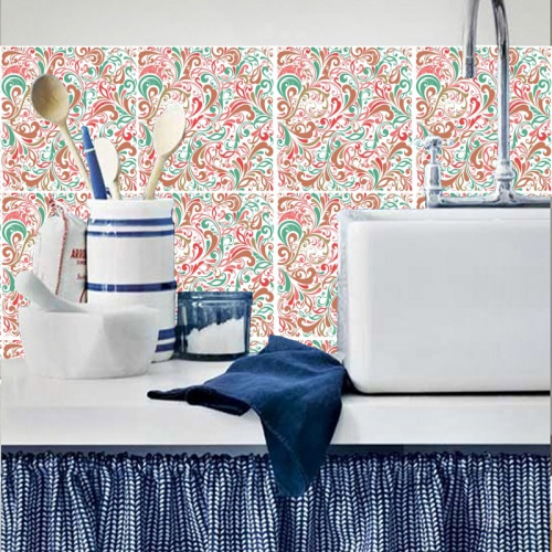 azulejo adesivo-para-azulejo-floral-atraente