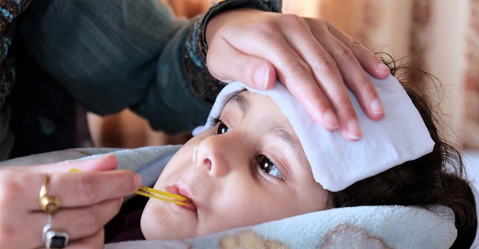 bebê com febre