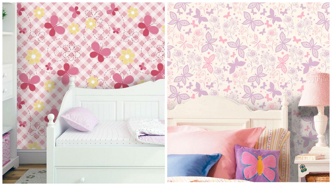 papel de parede borboleta qcola