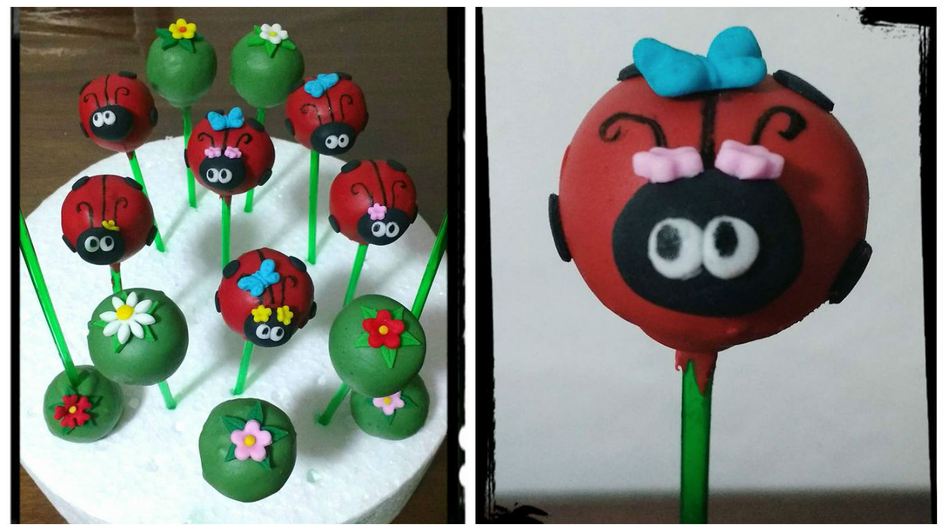 cake pop festa da joaninha