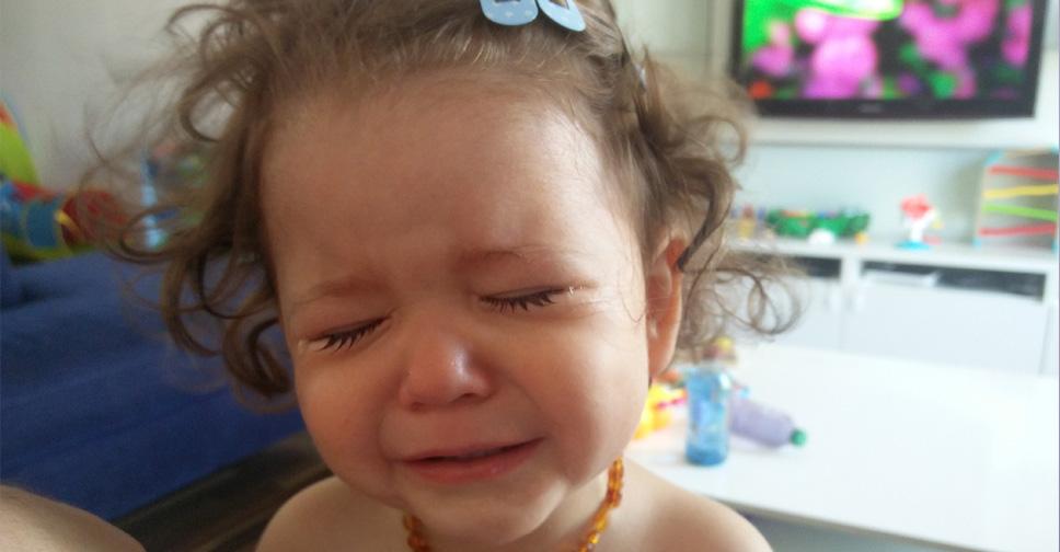 A mãe que chora junto com um filho