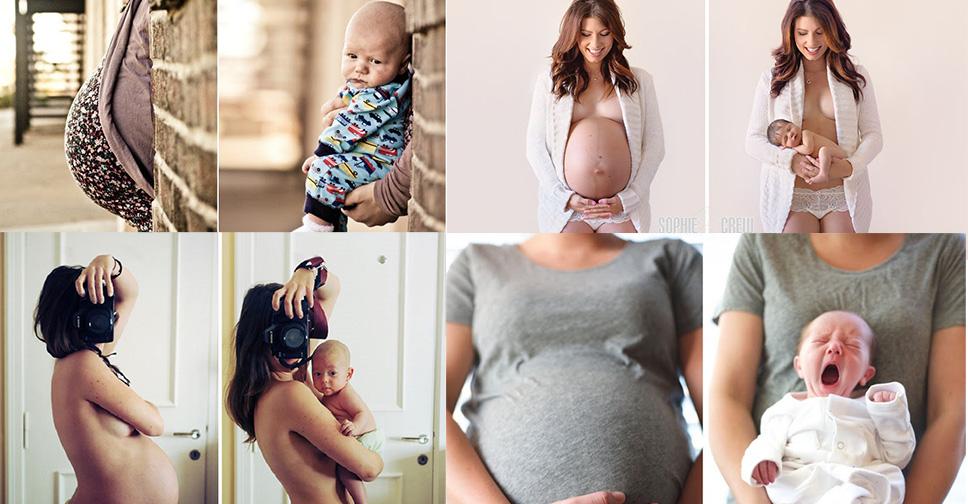 15 Idéias de Fotos Antes e Depois da Gravidez