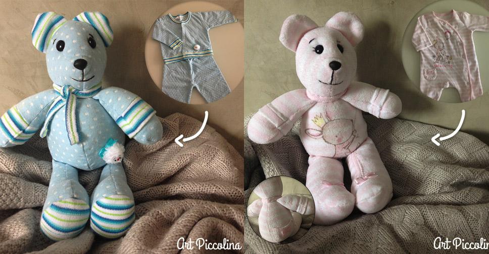 Ursinhos Feitos Com a Roupinha do Bebê e Um Passo a Passo de Como Fazer