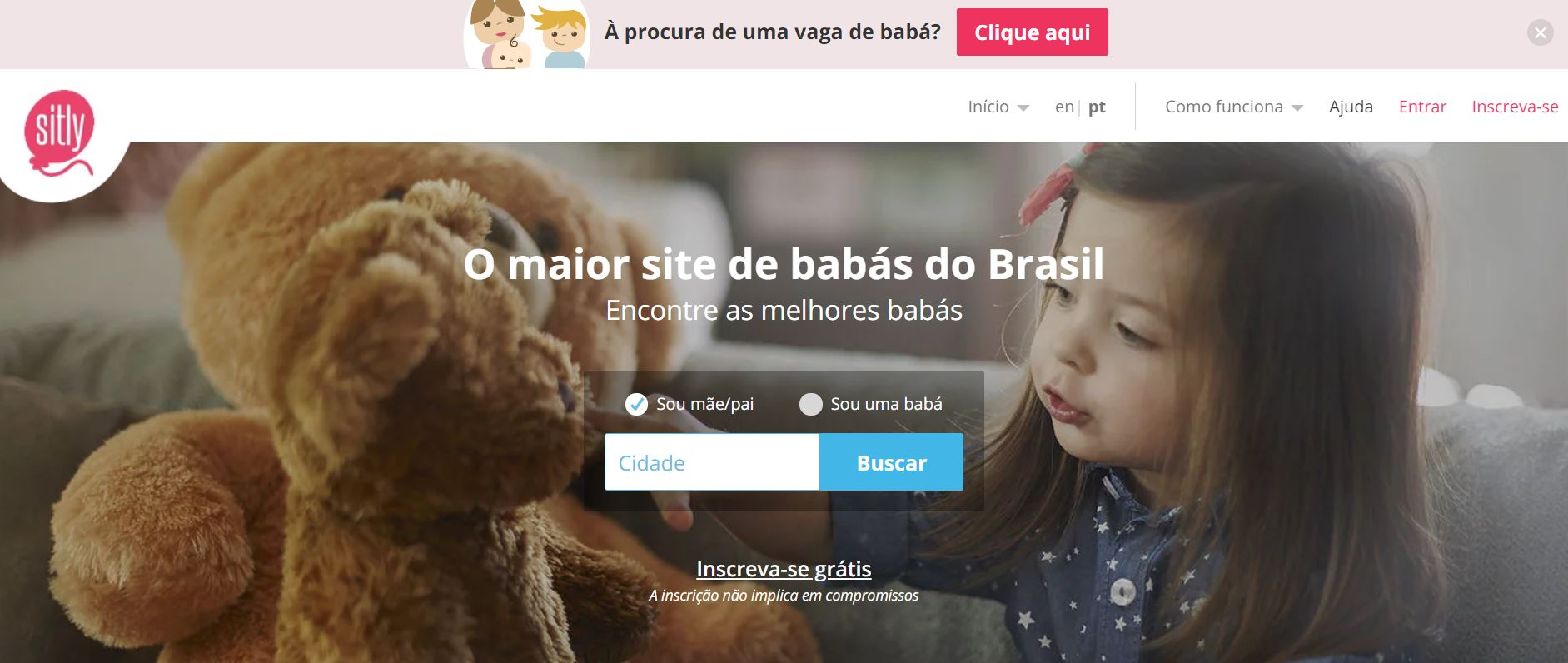 site para encontrar babá sitly